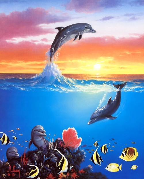 art-painting-dolphins